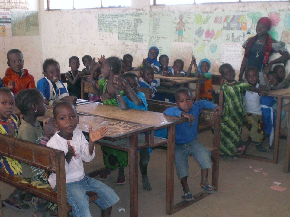 Supporting childrens education in the Gambia