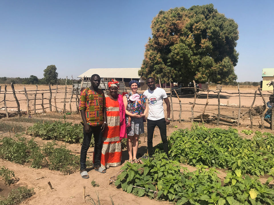 Jabou, Annable  Bethany and SG teachers in the vegetable plot